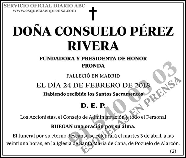 Consuelo Pérez Rivera